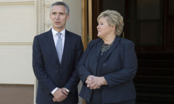 NATO Secretary General Jens Stoltenberg meets the Prime Minister of Norway, Erna Solberg