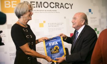 Blatter visits Nobel Peace Center in Norway