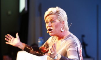 Siv Jensen, leader of Norway`s  Fremskrittspartiet (Progress party) speaks to party members in Oslo, on September 9, 2013, while waiting for the result in the general elections. Norway shifted right in elections Monday, setting the stage for a new Conservative-led government with the anti-immigrant Progress Party, two years after Muslim-hating Anders Behring Breivik's deadly rampage. AFP Photo / NTB scanpix /Gorm Kallestad        (Photo credit should read KALLESTAD, GORM/AFP/Getty Images)