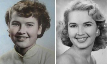 Several thousand young unmarried women from Norway's southernmost counties went to the US during the first decades after World War II. Most quickly changed their clothing and hairstyles and adopted American fashion and culture, such as this young woman. The photo on the left shows her as a teenager in Norway, while the one on the right shows her in the United States. (Photo: private; montage: Arnfinn Christensen, forskning.no)