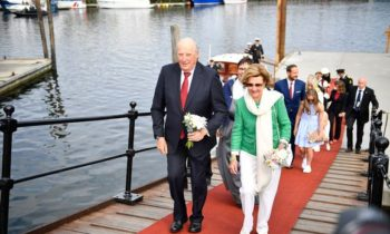 King Harald and Queen Sonja in Trondheim, Norway on June 23. Image: Ole Martin Wold / EPA