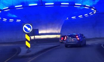 Norway's tunnels are so huge that they have full-size underground roundabouts
