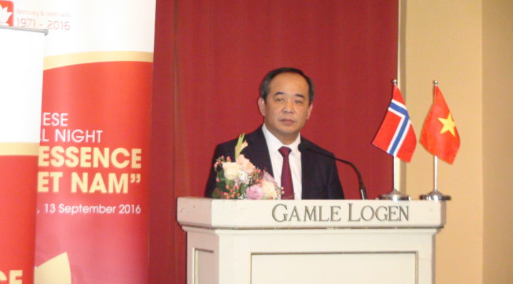 Vietnamese Deputy Minister of Culture, Tourism and Sports Le Khanh Hai gave a speech in opening the Vietnamese Cultural Event in Oslo