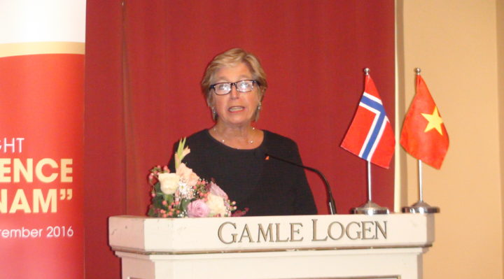 Norwegian State Secretary of Foreig Affairs Tone Skogen gave a speech at the Vietnamese Cultural Event