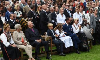 Norwegian King and Queen end jubilee tour with public viewing of King No in Jubilee Park
