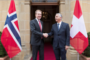 Swiss seek closer cooperation with Norway