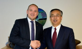 Norway's Minister meets with China