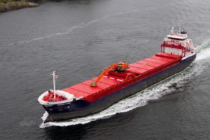 Freighter Nordfjord breached after grounding off Norway