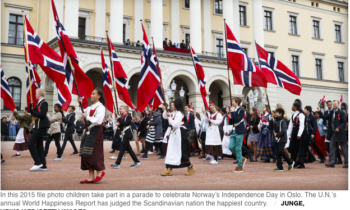 Norway named Happiest 2017