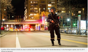 Suspect held as police detonate explosive device found in Oslo