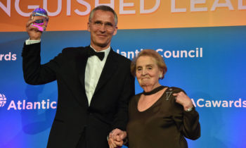 NATO Secretary General honoured by Atlantic Council for International Leadership