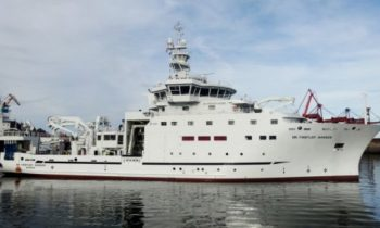 Norwegian research vessel Dr Fridtjof Nansen's arrival in 2018