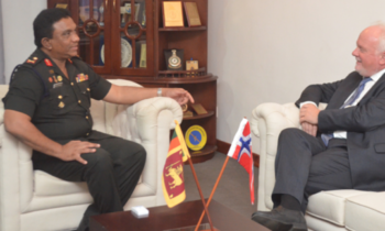 Norwegian Ambassador Meets Jaffna Commander in Sri Lanka