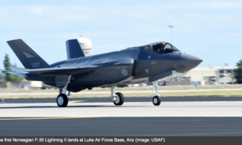First Three F-35A Lighting II Fighter Jets Arrive At Norway's Ørland Air Base