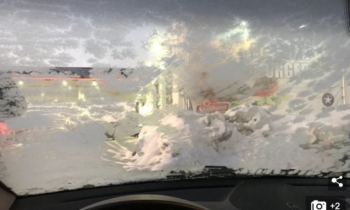 Norwegian woman loses her licence after driving with THIS frozen windscreen
