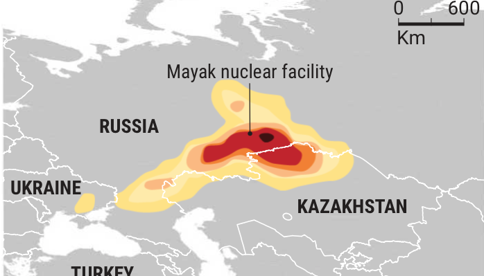 Mishandling of spent nuclear fuel in Russia may have caused radioactivity to spread across Europe
