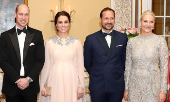 Prince William and Kate are guests of honour at royal Norwegian dinner