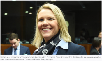 Norway's justice minister quits in terrorists' rights row