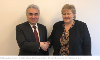 Executive Director meets Norway's Prime Minister Erna Solberg