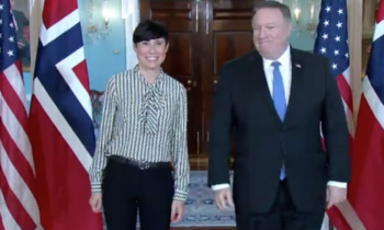 US Secretary of State welcomed Norwegian Foreign Minister to the State Department