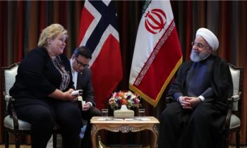 Iranian President meetings with Norwegian prime ministers in New York