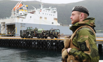 Military equipment for Exercise Trident Juncture 2018 arrives in Norway
