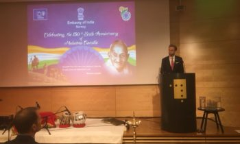 India celebrated the 150th Birth Anniversary of Mahatma Gandhi in Oslo