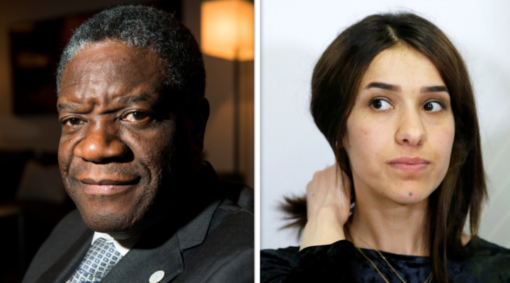 Welcomes the awarding of the Nobel Prize to Denis Mukwege and Nadia Murad