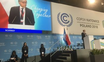 The Norwegian National Statement: The UN Climate Conference in Katowice, 2018