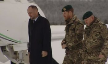 Prince Harry meets helicopter crews in Norway