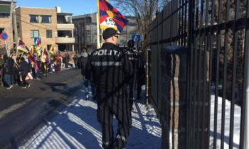 Marking Tibetan Uprising Day, Activists Protest Outside Chinese Embassy in Norway