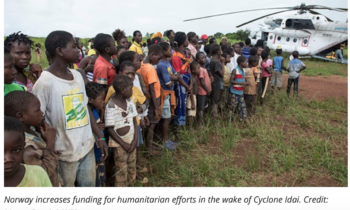 Norway increases funding for humanitarian efforts in the wake of Cyclone Idai