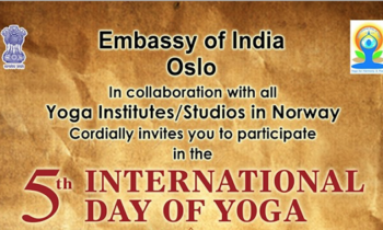 Celebration Of The 5th  International Day Of Yoga By The Embassy Of India In Norway