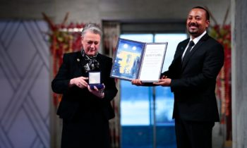 Ethiopia's Army receives Nobel Peace Prize in Oslo