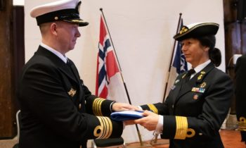 Denmark hands command of Standing NATO Mine Countermeasures Group One to Norway