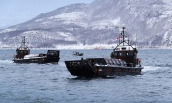 NORWEGIANS JOIN ROYAL MARINES ON FJORD RAID