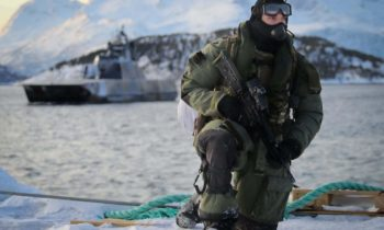 Royal Marines Commandos Raid alongside Norwegian stealth ship in Artic