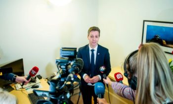 Norway's transport minister cuts ceremonial ribbon via videoconference