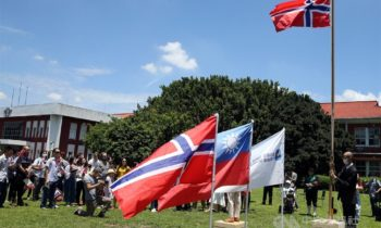Norwegian expats celebrate National Day with parade in Taiwan