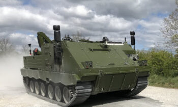 Rubber tracks to Norwegian armoured combat support vehicle