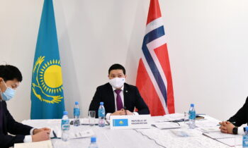 COVID-19, multilateralism, transport, energy discussed at the Kazakh-Norwegian talks
