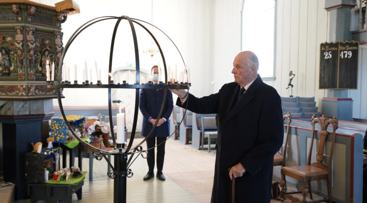 Private celebration for King Harald of Norway on 84th birthday
