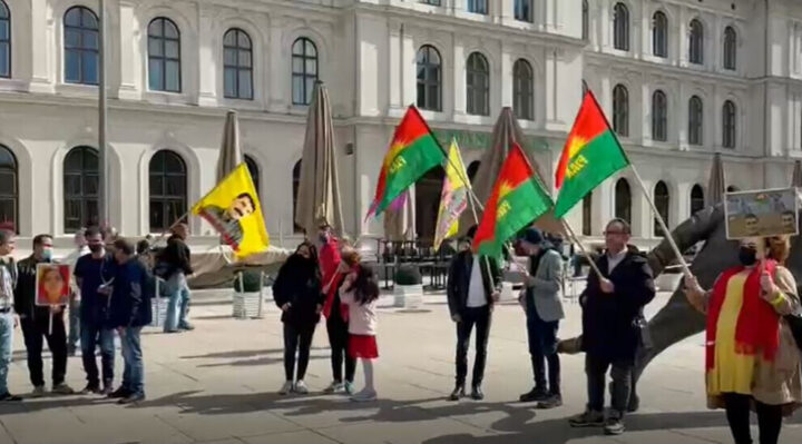 Activists in Oslo protest the governments of Iran and Turkey